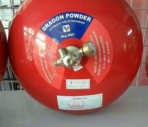 Bình cầu chữa cháy tự động Dragon bột ABC 6kg