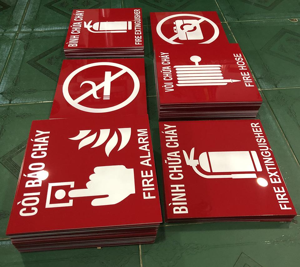 Bảng Mica vị trí còi báo cháy (Fire Alarm)