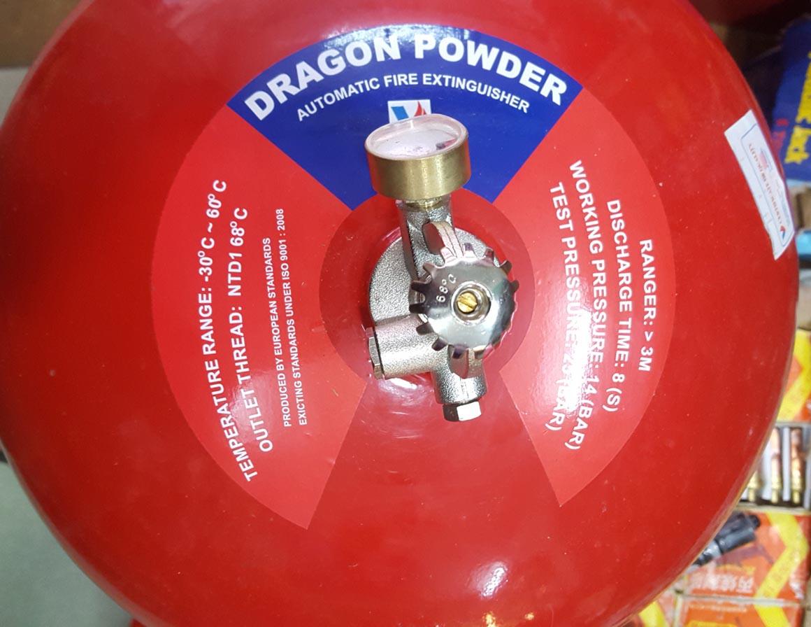 Bình chữa cháy tự động hình cầu Dragon Việt nam bột ABC 6kg