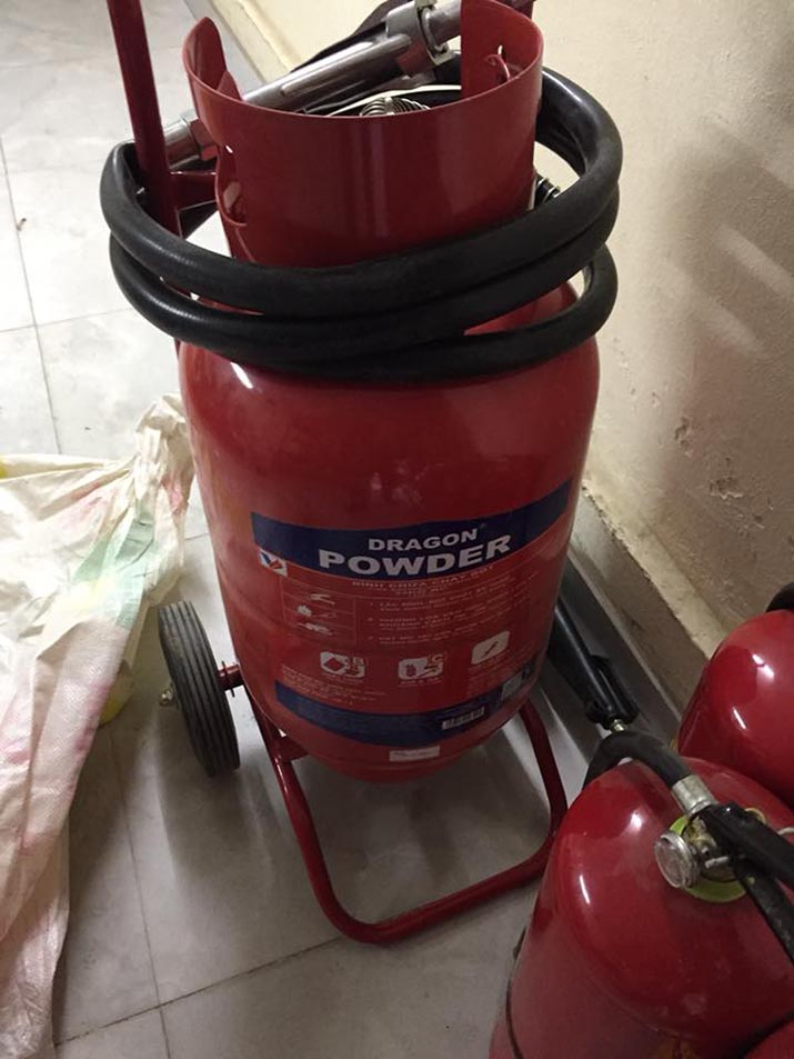 Bình chữa cháy Dragon xe đẩy 35KG bột khô ABC