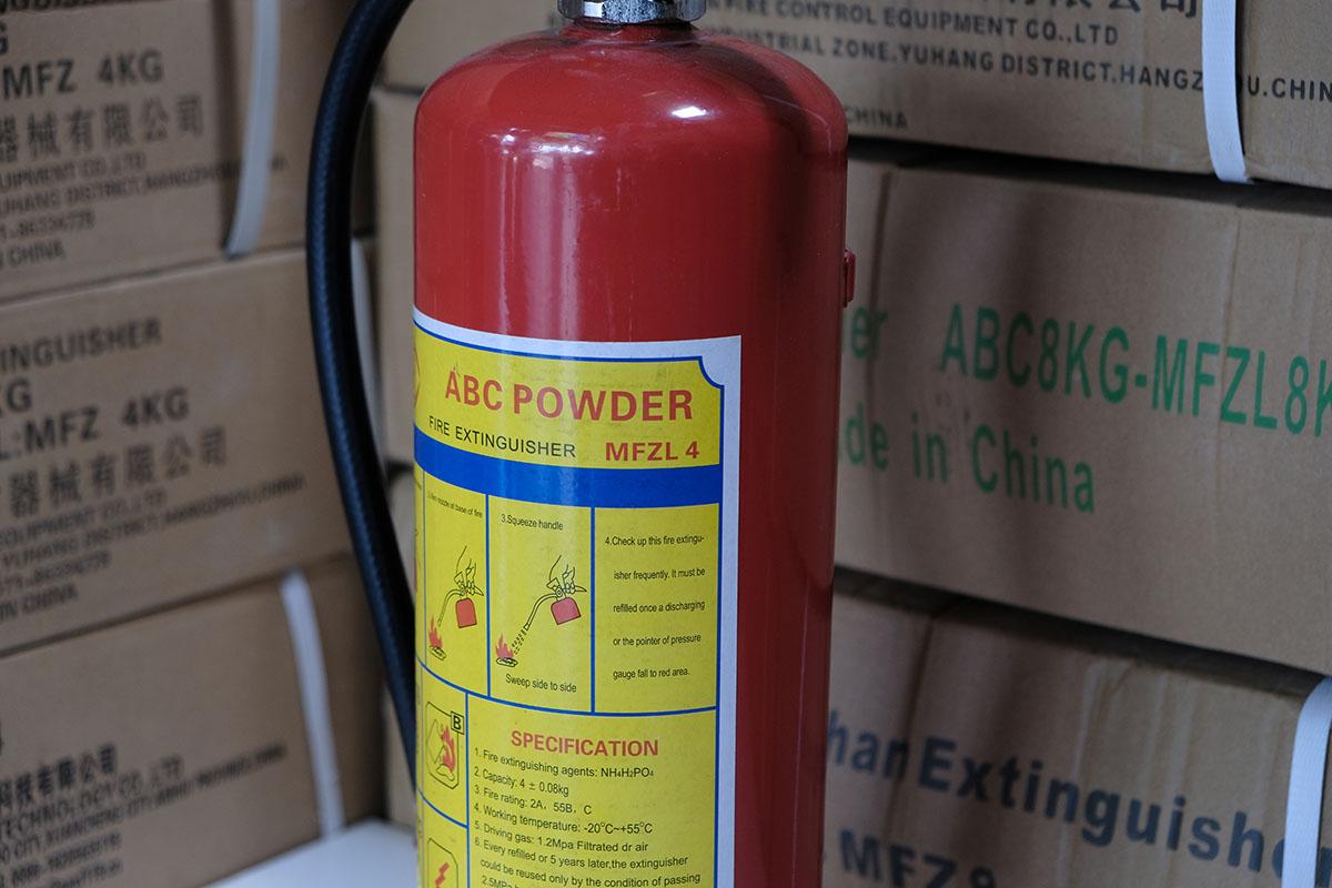 Bình chữa cháy bột ABC 4kg loại nhỏ xách tay
