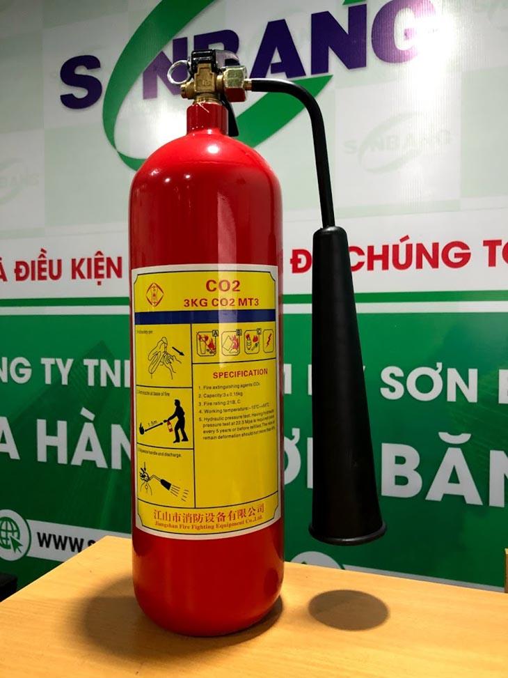 Bình chữa cháy co2 xách tay 3kg mt3