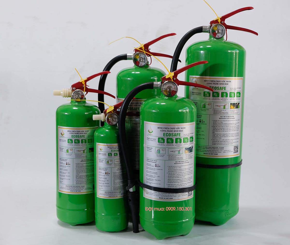 bình chữa cháy gốc nước sinh học Ecosafe