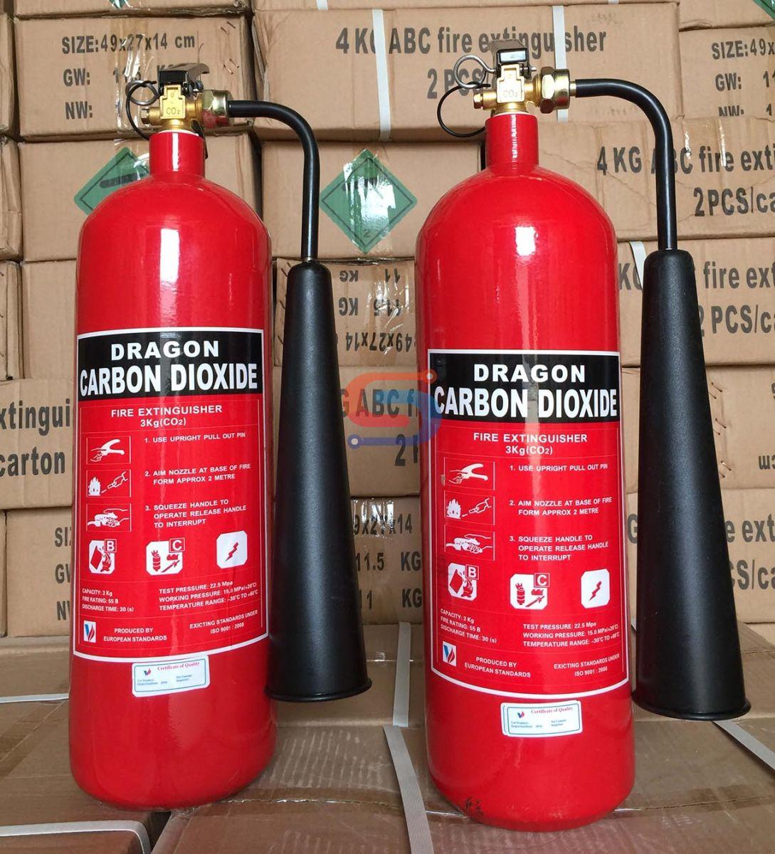 Bình chữa cháy 3KG khí lạnh CO2 Dragon Việt Nam