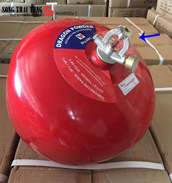 Bình chữa cháy tự động hình cầu ABC Dragon Việt Nam 8kg