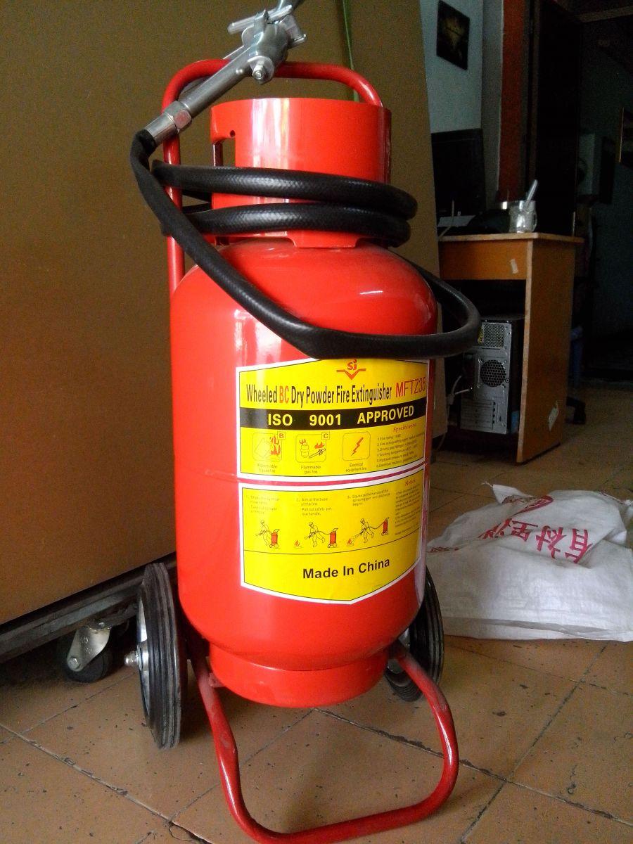 Bình chữa cháy xe đẩy loại lớn 35kg bột BC MFTZ35