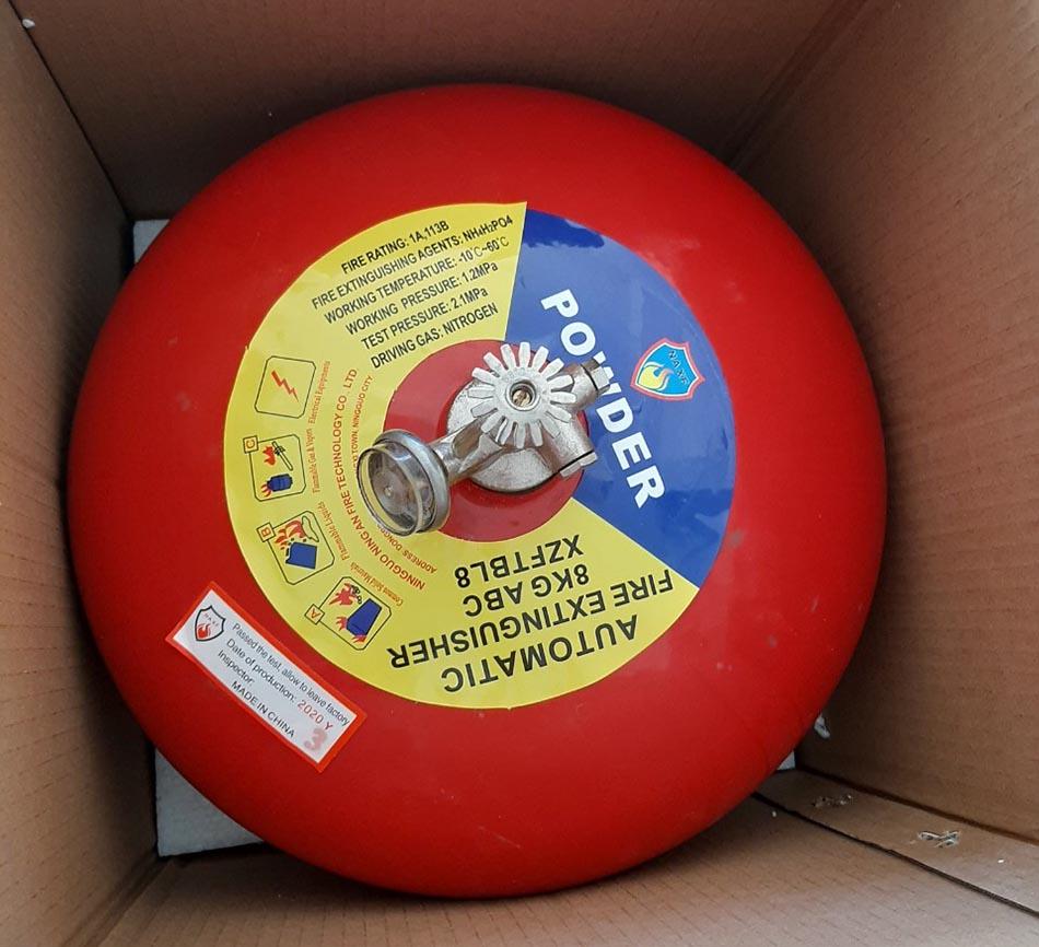 Quả cầu chữa cháy bột ABC XZFTBL8 8kg tự động dạng treo
