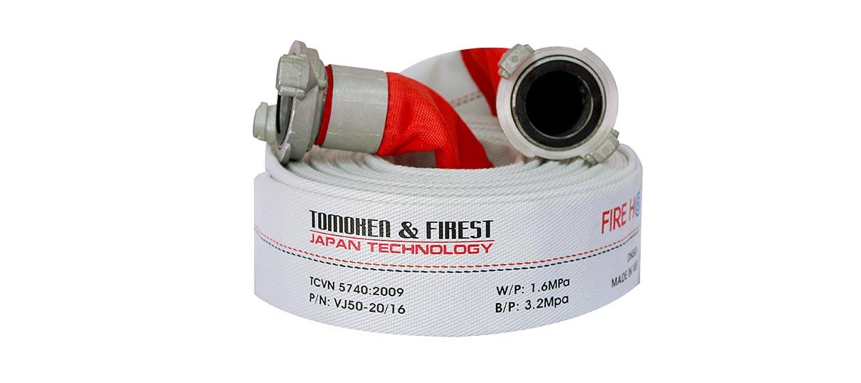 Vòi chữa cháy Tomoken Nhật Bản D50 16Bar 20m Ø50mm Japan