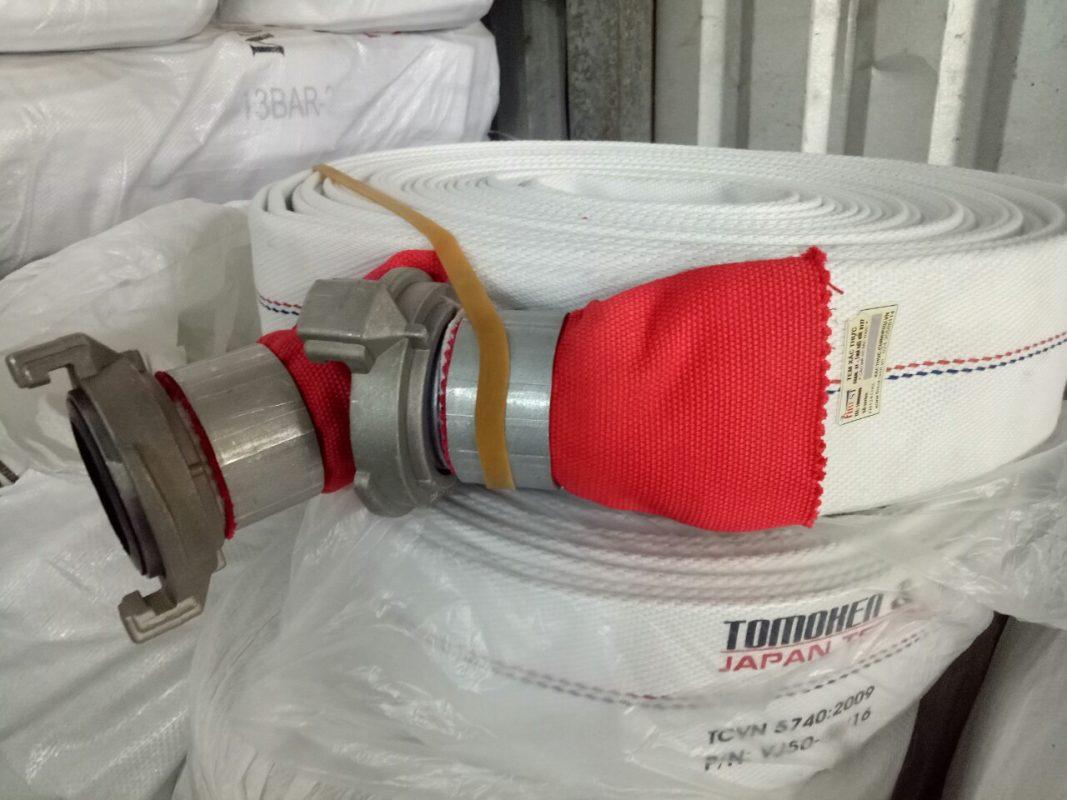 Vòi chữa cháy Tomoken Nhật Bản phi 65 10Bar 20m Ø65mm Japan