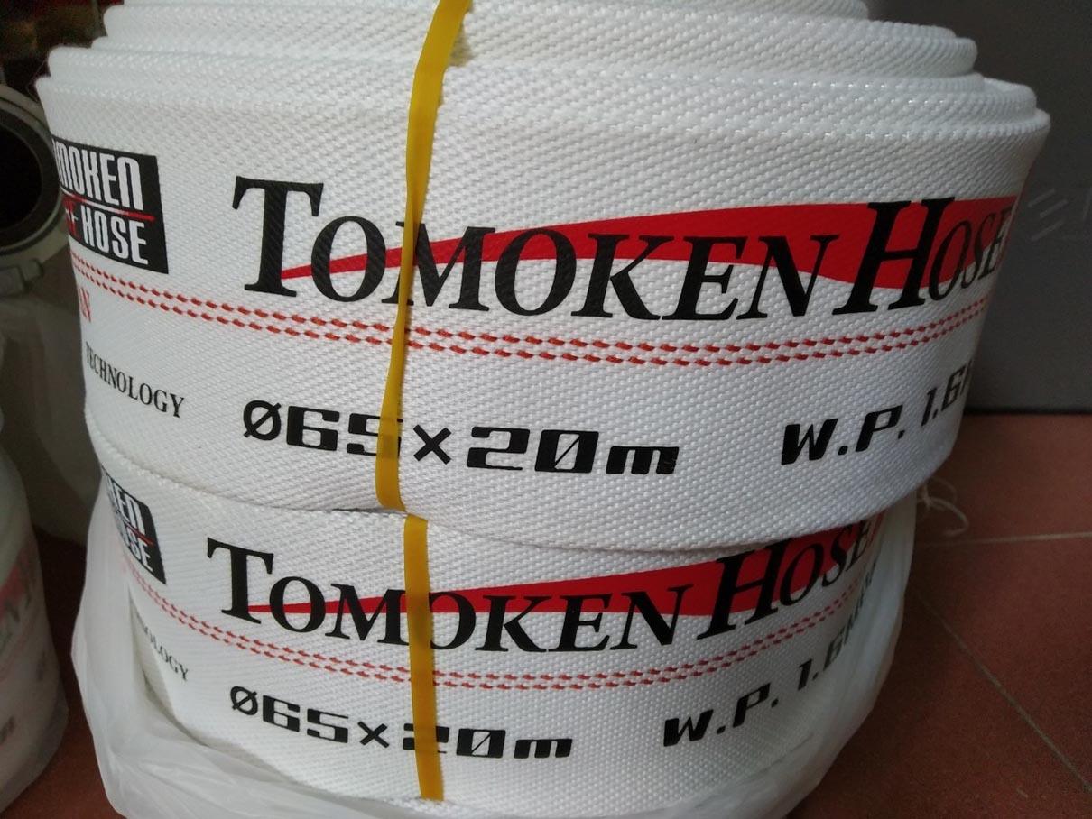 Vòi chữa cháy Tomoken Nhật Bản phi 65 16Bar 20m Ø65mm Japan