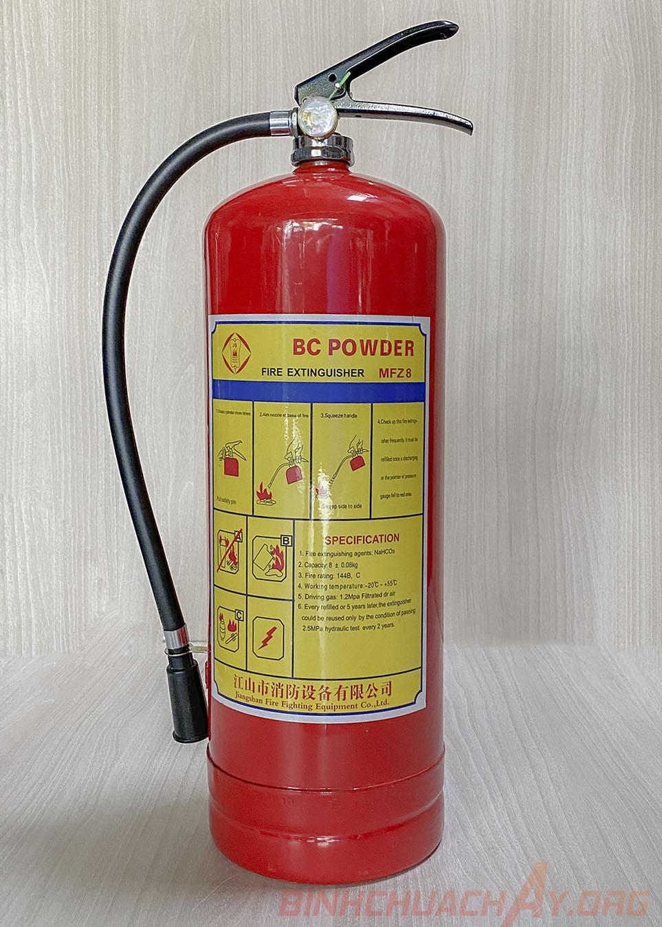 Bình chữa cháy bột BC MFZ8 8kg xách tay