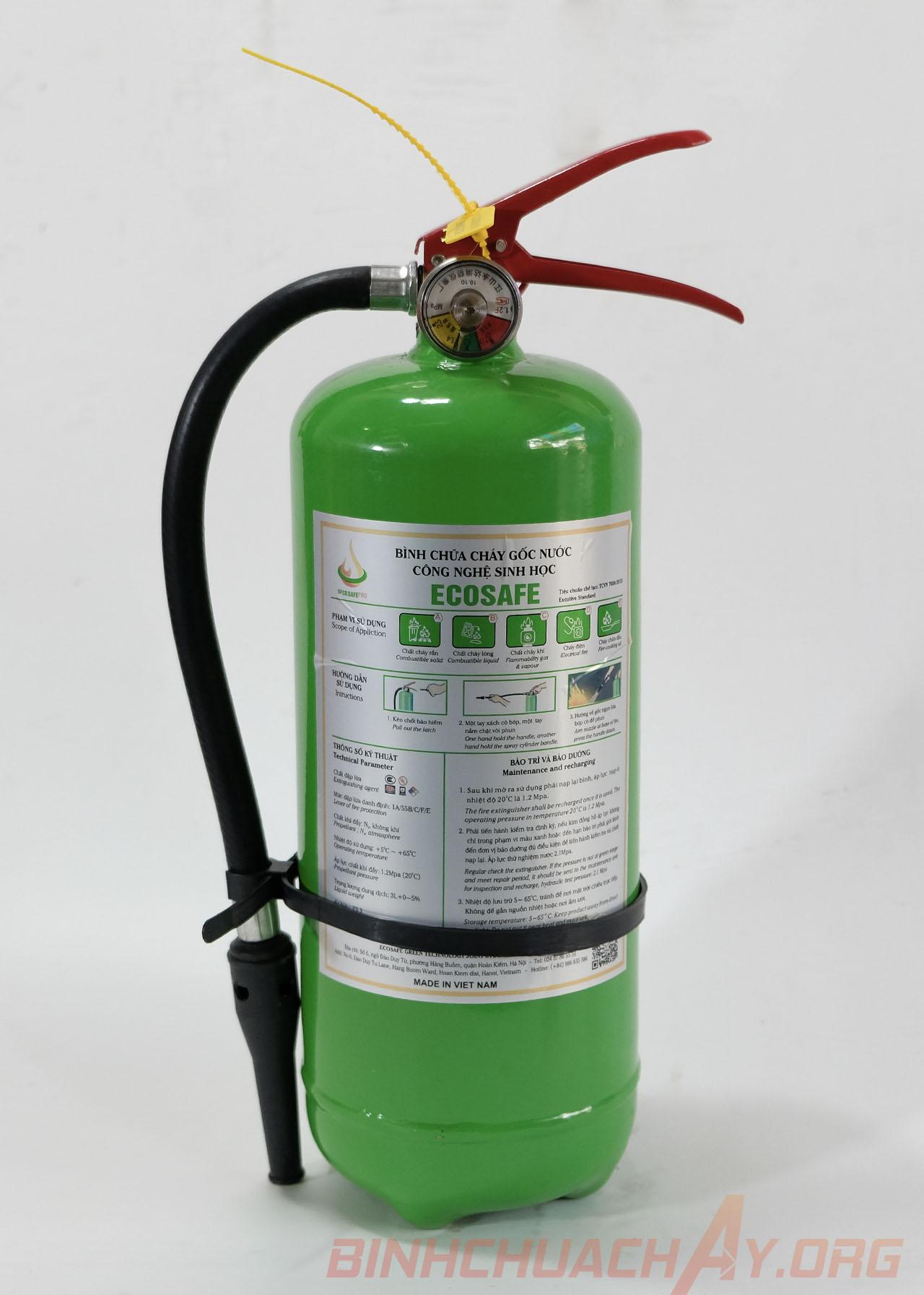 Bình chữa cháy gốc nước 3 lít ES3 Ecosafe Việt Nam