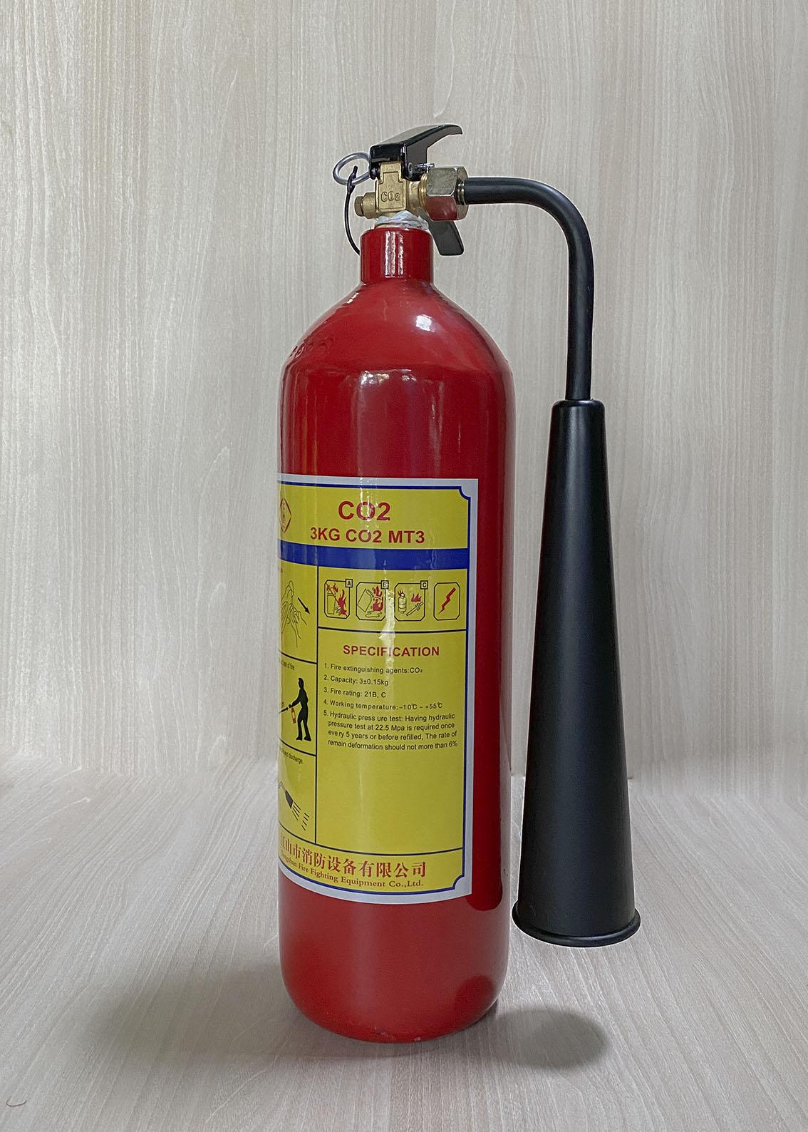 Bình chữa cháy khí CO2 MT3 3kg loại nhỏ