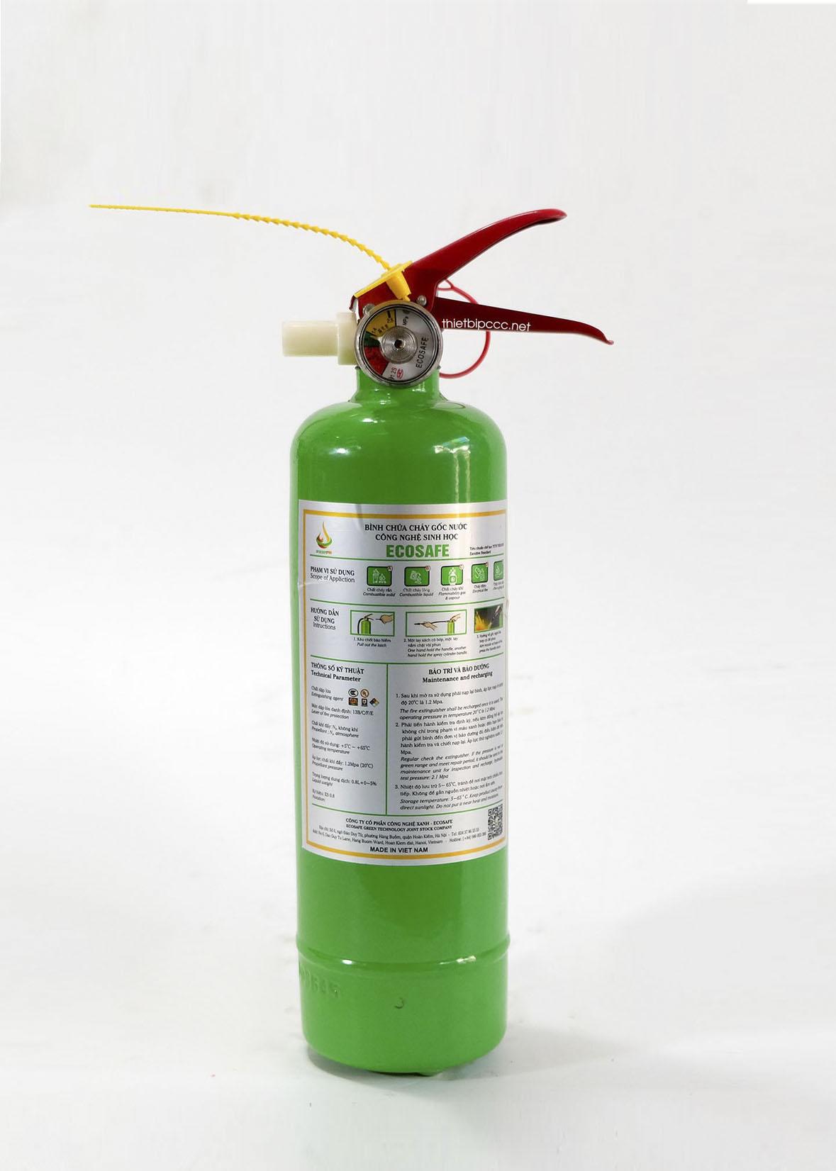 Bình chữa cháy Ecosafe 0.8 lít ES08 công nghệ sinh học