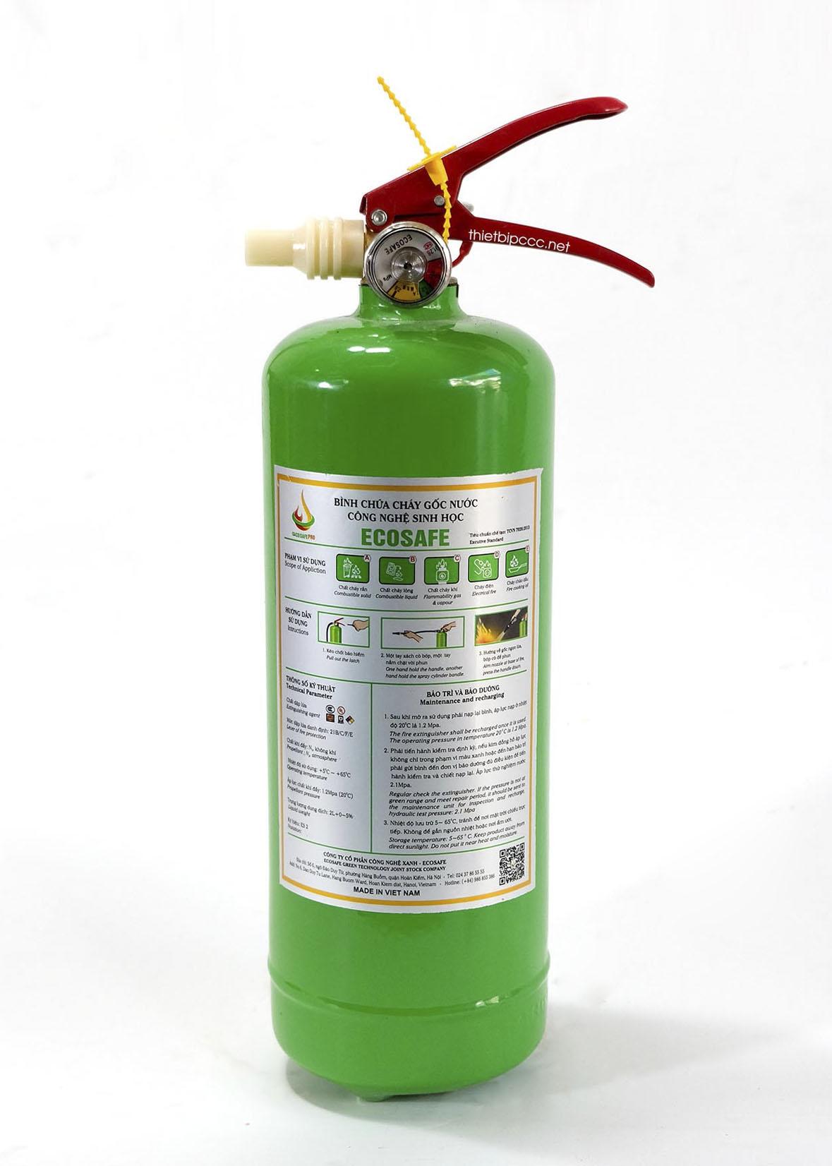 Bình chữa cháy gốc nước 2 lít ES2 Ecosafe Việt Nam
