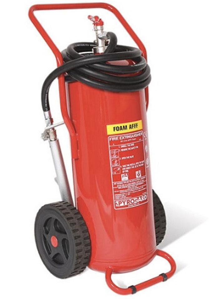 Bình chữa cháy bọt foam 45 Lít có xe đẩy loại lớn