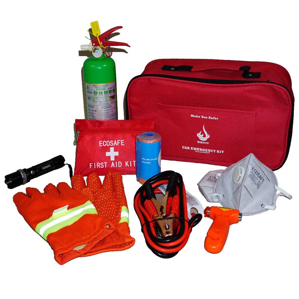 Bộ dụng cụ cứu hộ PCCC trên xe ô tô Car Kit Ecosafe Pro